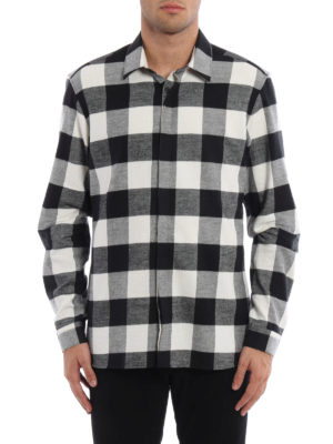 Neil Barrett: shirts online - Chequered flannel shirt