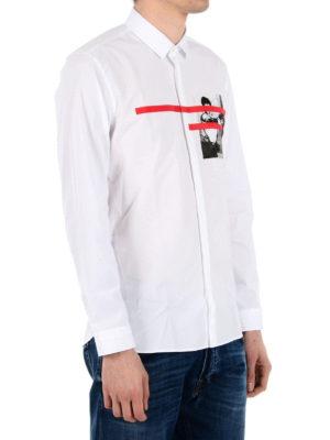 Neil Barrett: shirts online - Chest print detailed shirt