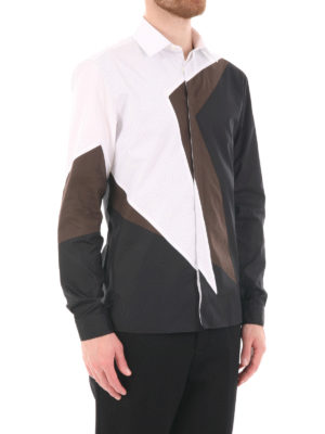 Neil Barrett: shirts online - Geometric print cotton shirt