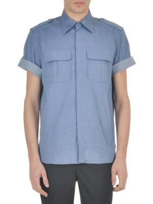 Neil Barrett: shirts online - Short sleeved melange shirt