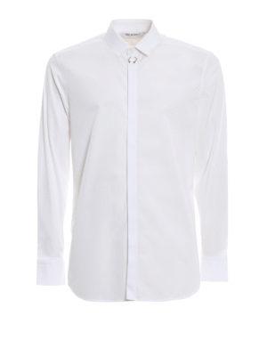 NEIL BARRETT: camicie - Camicia slim in cotone con piercing