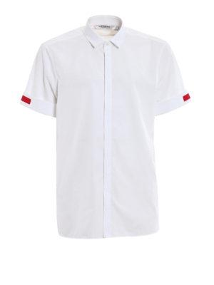 NEIL BARRETT: camicie - Camicia maniche corte bande rosse