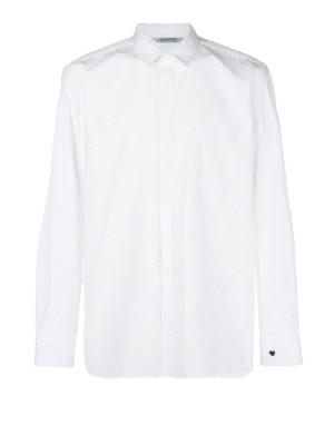 NEIL BARRETT: camicie - Camicia in cotone con stampa cuoricino