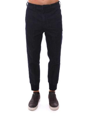 Neil Barrett: straight leg jeans online - Elasticated cuffs jeans