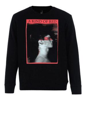 Neil Barrett: Sweatshirts & Sweaters - A King Of Red print sweatshirt