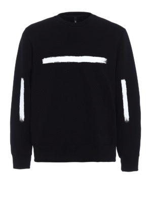 Neil Barrett: Sweatshirts & Sweaters - Brush stroke neoprene sweatshirt