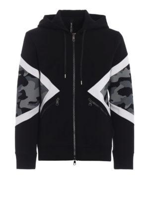 NEIL BARRETT: Felpe e maglie - Felpa slim con pannelli camouflage