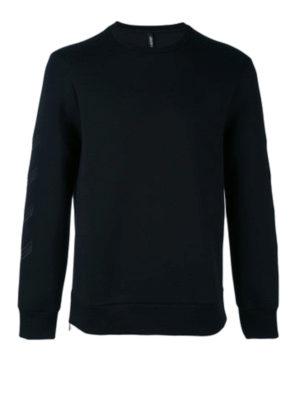 Neil Barrett: Sweatshirts & Sweaters - Embroidered zipped scuba sweatshirt