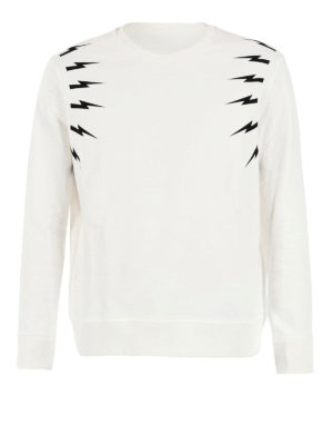 Neil Barrett: Sweatshirts & Sweaters - Lightning bolt print sweatshirt