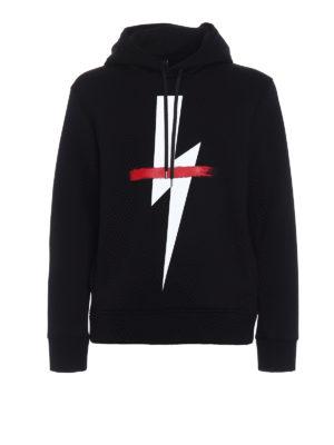 Neil Barrett: Sweatshirts & Sweaters - Lightning double jersey hoodie