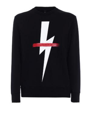 Neil Barrett: Sweatshirts & Sweaters - Lightning double jersey sweatshirt