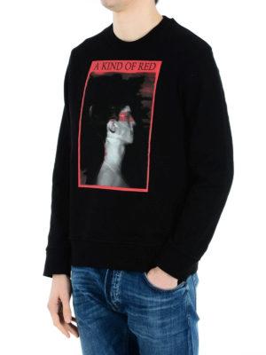 Neil Barrett: Sweatshirts & Sweaters online - A King Of Red print sweatshirt