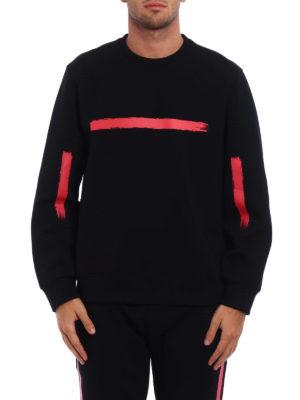 Neil Barrett: Sweatshirts & Sweaters online - Brush stroke neoprene sweatshirt