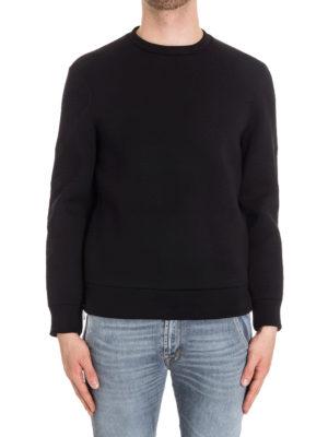 Neil Barrett: Sweatshirts & Sweaters online - Embroidered zipped scuba sweatshirt