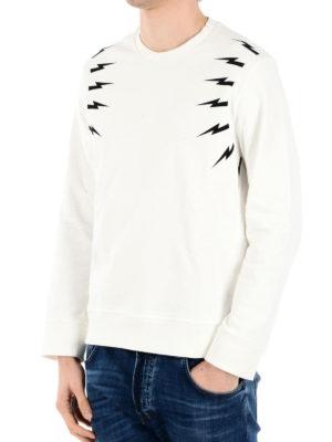Neil Barrett: Sweatshirts & Sweaters online - Lightning bolt print sweatshirt