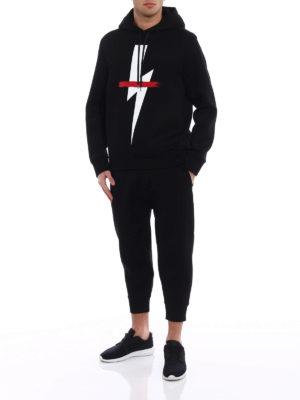 Neil Barrett: Sweatshirts & Sweaters online - Lightning double jersey hoodie