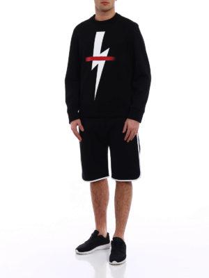 Neil Barrett: Sweatshirts & Sweaters online - Lightning double jersey sweatshirt