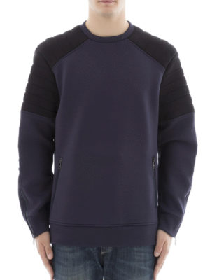 Neil Barrett: Sweatshirts & Sweaters online - Padded shoulders cotton sweatshirt