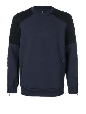 Neil Barrett: Sweatshirts & Sweaters - Padded shoulders cotton sweatshirt