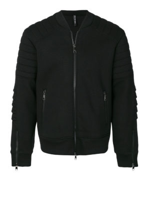 Neil Barrett: Sweatshirts & Sweaters - Padded sleeves cotton sweatshirt