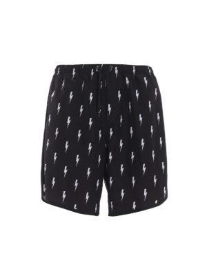 Neil Barrett: Swim shorts & swimming trunks - All-over lightning swim shorts