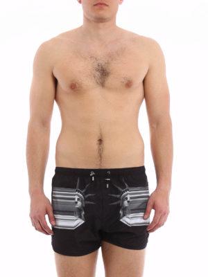 Neil Barrett: Swim shorts & swimming trunks online - Statue of Liberty swim short