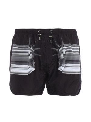 Neil Barrett: Swim shorts & swimming trunks - Statue of Liberty swim short