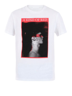 Neil Barrett: t-shirts - A Kind Of Red jersey T-shirt