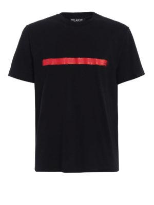 Neil Barrett: t-shirts - Brush stroke detailed Tee