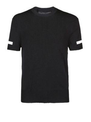 NEIL BARRETT: t-shirt - T-shirt con banda a contrasto sulle maniche