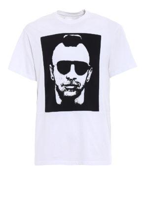 Neil Barrett: t-shirts - Contrasting print white over Tee