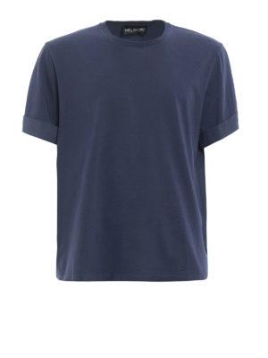 Neil Barrett: t-shirts - Cotton T-shirt with turn-ups