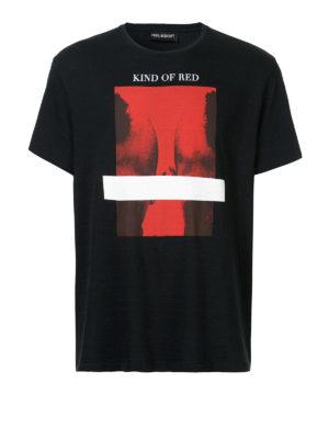 Neil Barrett: t-shirts - Kind Of Red print cotton T-shirt