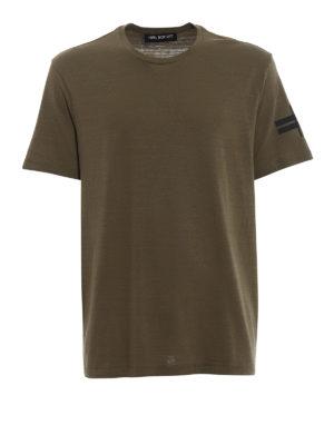 NEIL BARRETT: t-shirt - T-shirt verde con loose regular fit