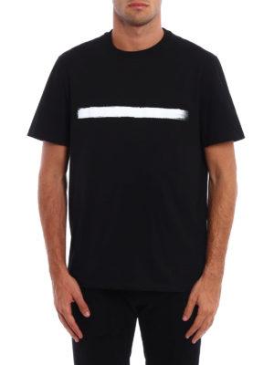 Neil Barrett: t-shirts online - Brush stroke detailed Tee