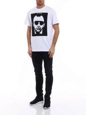 Neil Barrett: t-shirts online - Contrasting print white over Tee