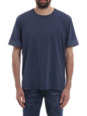 Neil Barrett: t-shirts online - Cotton T-shirt with turn-ups