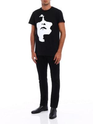 Neil Barrett: t-shirts online - Face print cotton T-shirt