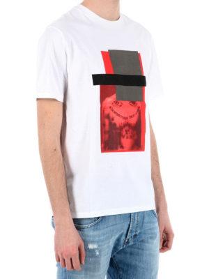 Neil Barrett: t-shirts online - Front maxi print detailed T-shirt