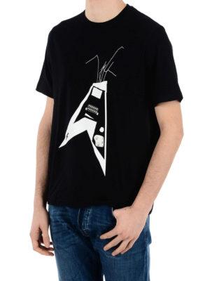 Neil Barrett: t-shirts online - Guitar print cotton T-shirt