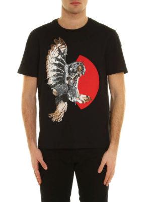 Neil Barrett: t-shirts online - Mechanical eagle cotton T-shirt