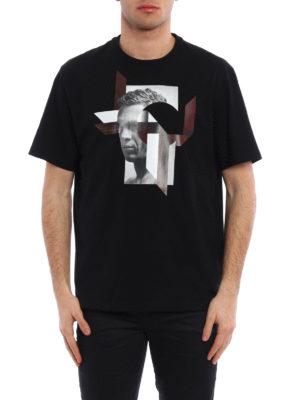 Neil Barrett: t-shirts online - Modernist Steve McQueen T-shirt
