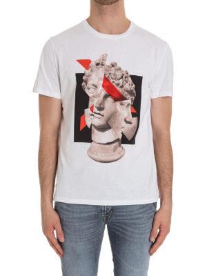 Neil Barrett: t-shirts online - Sculpture print cotton T-shirt