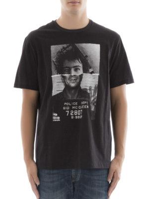 Neil Barrett: t-shirts online - Sid McQueen print cotton T-shirt