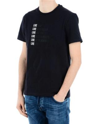 Neil Barrett: t-shirts online - Writing print jersey T-shirt