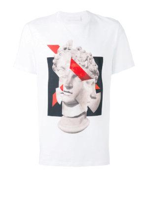 Neil Barrett: t-shirts - Sculpture print cotton T-shirt