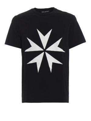 NEIL BARRETT: t-shirt - T-shirt in jersey con stampa stelle