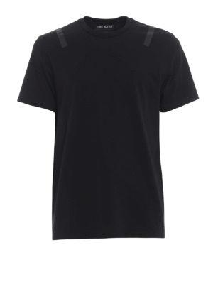NEIL BARRETT: t-shirt - T-shirt cotone stampa tono su tono