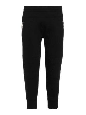 Neil Barrett: tracksuit bottoms - Biker style scuba fabric trousers