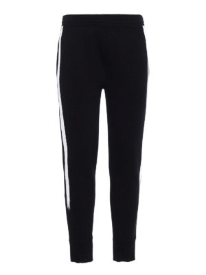 Neil Barrett: tracksuit bottoms - Brush stroke neoprene track pants